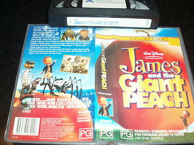 VHS VIDEO TAPE ~ WALT DISNEY James and the Giant Peach