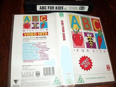 Vhs Video Tape ~ Abc For Kids Video Hits