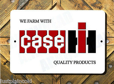 CASE IH wall sign we farm with Case IH Quality products