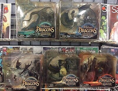 McFarlane's Dragons Figure Series 2 Quest for the Lost King 5 Piece Sealed Set