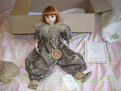 """Collectable Pauline-Bjonness-Jacobsen Porcelain Doll Stella 22"""" Moon And Stars"""