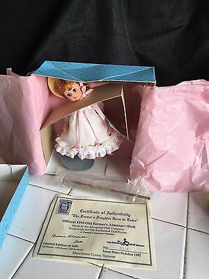 Nrfb Madame Alexander Doll The Farmers Daughter Goes To Town Ltm Ed 14/120