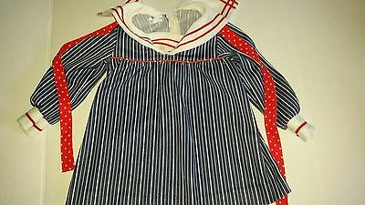 Vintage Girls Dress 6 to 9 Months Baby Sailor Style Sears Canada