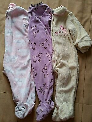 Girl 6 month footed sleepers pajamas clothes lot