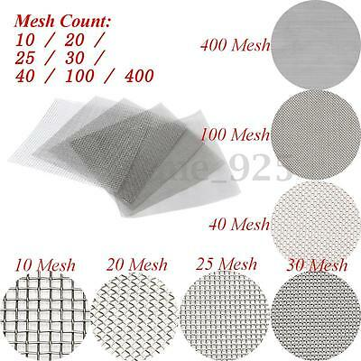10/20/25/30/40/100/400 Mesh 304 Stainless Steel Woven Wire Filter Sheet 30x30cm