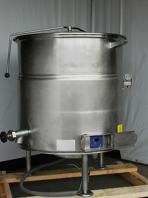 steam kettle 80 gallon electric 480V Cleveland stationary