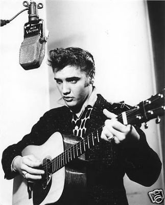 Elvis Presley 1950's Sun Sessions era BW 8x10 Photo #2