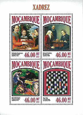 Mozambique 2013 Stamp, MOZ13053A Chess, Sport, Game, Toy