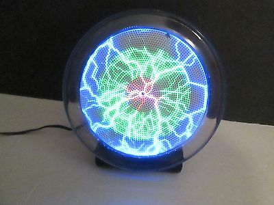 """Can You Imagine Lumiglas Interactive Sound Touch Lightning Plasma Disc Plate 6"""""""