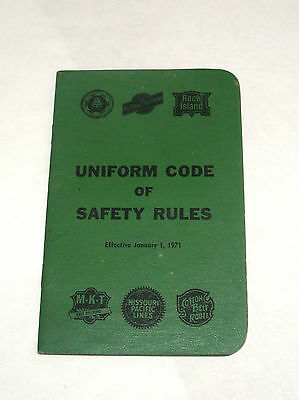 Vintage Railroad Employee Book Uniform Code Of Safety Rules 1971