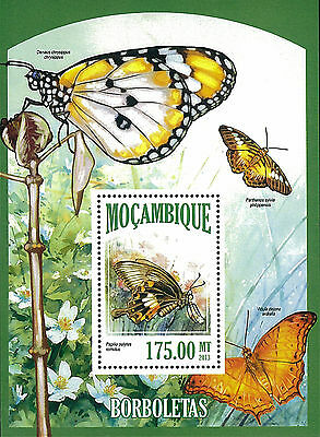 Mozambique 2013 Stamp, MOZ13055B Butterfly, Insect, Plant, Nature