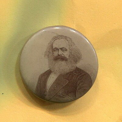 Early 1900's  KARL MARX  U.S. Socialist Labr Party communist protest cause  pin