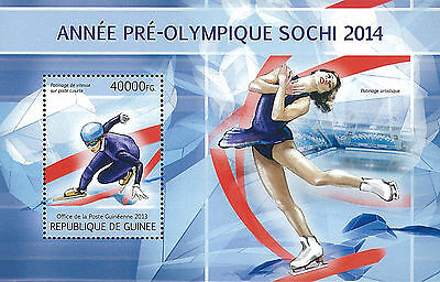 Republic of Guinea 2013 Stamp, GU13041B Winter Olympic Games, Sport, Snow