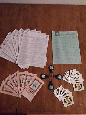 Castrol Oil Decals Vintage 1960's  Including Keychains, Tech Bulletins Very Rare