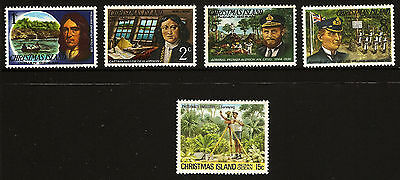1977-1980 *MNH* Famous Visitors & Phosphate Industry Christmas Island selection