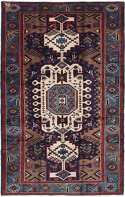 """Hand-knotted Carpet 4'4"""" x 6'10"""" Nahavand Wool Rug...DISCOUNTED PRICE!"""