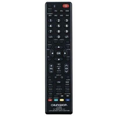 SANYO TV Remote For 3D LCD LED & HD TVs Replacement Control