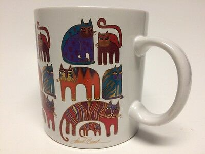 "Laurel Burch ""Fantastic Felines"" 1988 Cat Mug Cup"