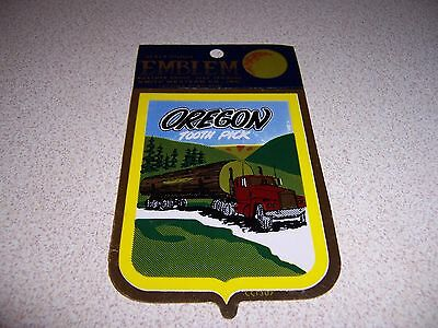 1970s VTG OREGON TOOTHPICK LOGGING TRUCK SOUVENIR CAR WINDOW DECAL STICKER