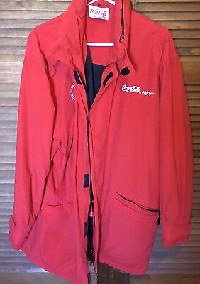 Coca Cola Olympic Jacket 2000 Sydney Olympics XL Men's Red Collectable Jacket