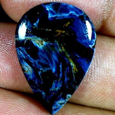 19.30Cts 100% NATURAL EXCLUSIVE POWER PIETERSITE PEAR CABOCHON QUALITY GEMSTONES
