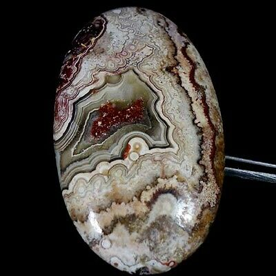 124.40Cts. 100% NATURAL CRAZY LACE AGATE OVAL CABOCHON ATTRACTIVE DESIGNER CAB