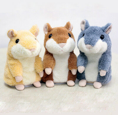 WK 13  Toy Mimicry Pet Speak Talking Record Hamster Mouse Plush Kids Toy