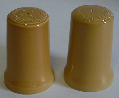 Vintage Salt and Pepper shakers Armitage Australia mustard colour retro pottery