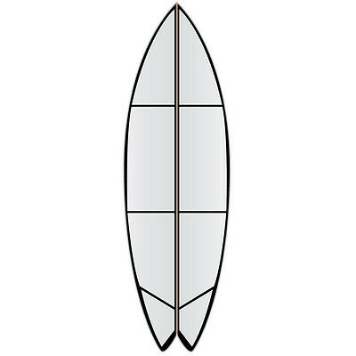 "Versa Traction clear DECK grip tape for a 7'0""fish surf boards RRP$105"
