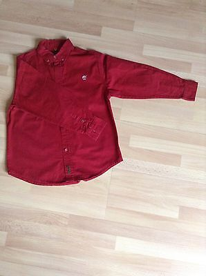 chemise coton TIMBERLAND rouge 6 ans