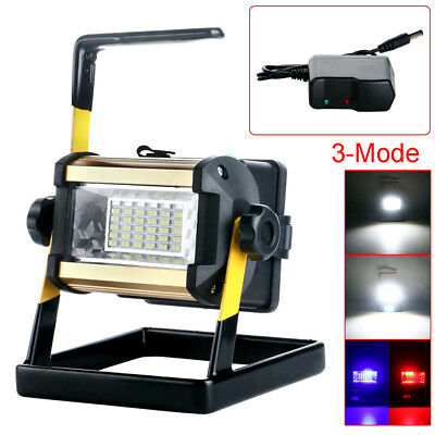Rechargeable 50W 36LED Portable LED Flood Spot Work Light Camping Lamp 18650