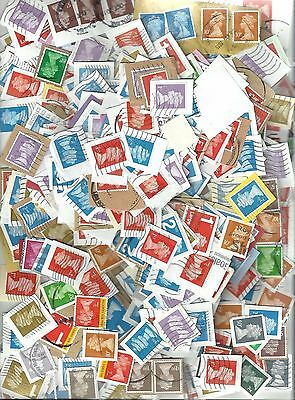 GB Assorted U shaped security stamps used approx 200gramms    Lot A