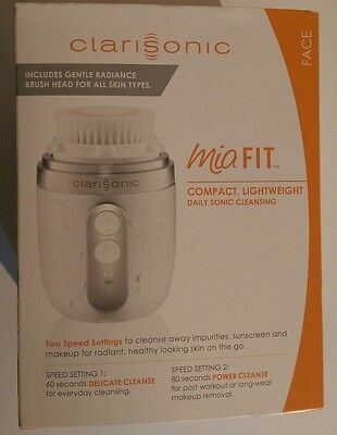 Clarisonic Mia FIT, 2 Speed  Facial Cleansing Brush System 100% Genuine Sealed