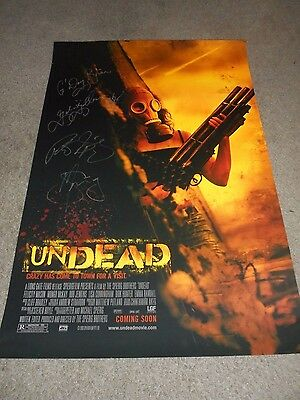 Undead - Original Ds Poster - Signed By The Spierig Brothers - 2003