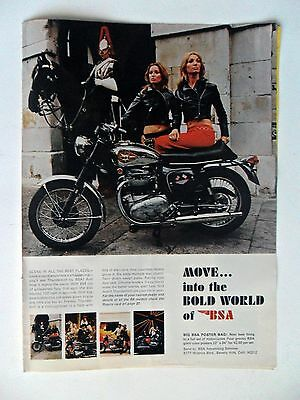 1968 Print Ad BSA Motorcycle ~ Move Into the Bold World of BSA Women Riders