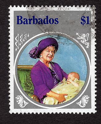 1985 Barbados $1 Queen mother SG782 GOOD USED R32053