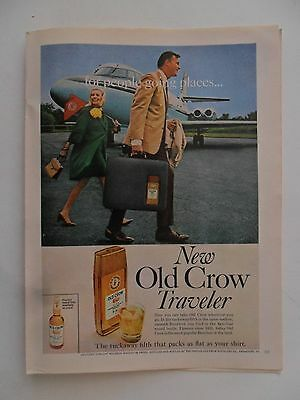 1967 Print Ad Old Crow Whiskey ~ New Old Crow Traveler: Going Places