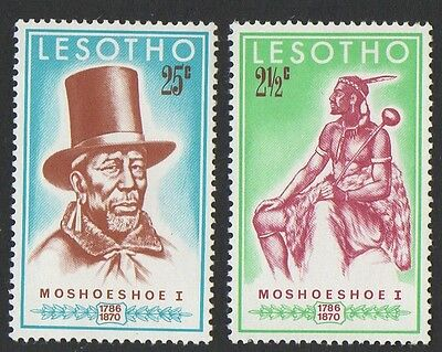 Lesotho stamps.1970 The 100th Anniversary of the Death of King Moskoeshoe I. MNH