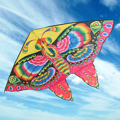 1.5M Butterfly Kids Kite Funny Sport Colorful Print Long Tail Toy Gift 150x110mm