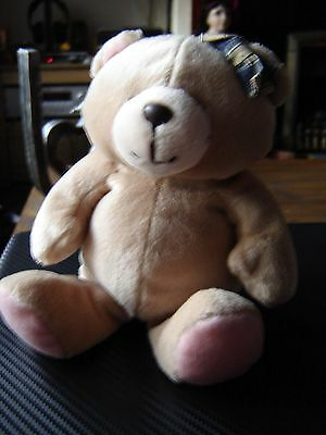 "Forever friends plush bear with gingham bow 6"" seated. 9"" legs straight"