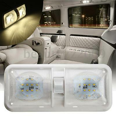12V 48 LED Double Dome Roof Ceiling Interior Light For RV Boat Camper Trailer
