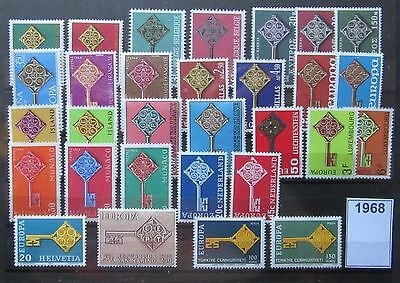 Timbres Europa 1968 Neufs