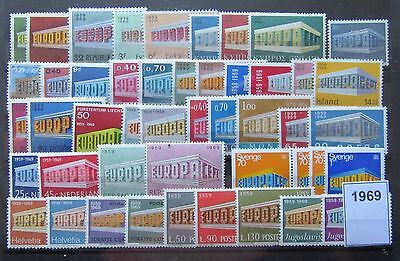 Timbres Europa 1969 Neufs