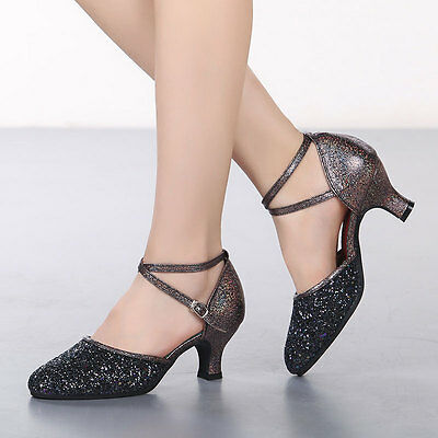 Women's Ballroom Party Latin Tango Dance Shoes Salsa Shoes Dancing Heels Indoor