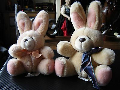 """Forever friends plush bears bunny rabbits 6 and 7"""" seated to top of their ears"""