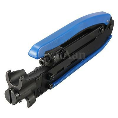 RG59 RG6 RG11 Coaxial Cable Crimper Compression Tool For F Connector CATV TV New