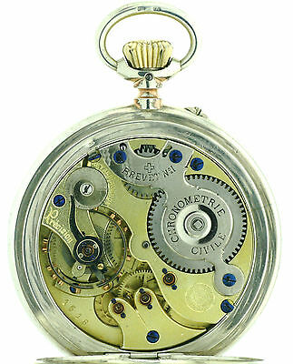 Paul Perret Patent Ankerchronometer in 1A Werksqualität 800er Silber, 1A Zustand