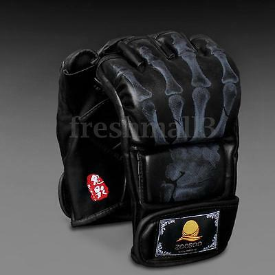 Leather Boxing Mma Fight Gloves Punch Bag Muay Thai Ufc Sparring Punching Sport