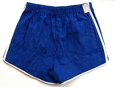Short de Tennis homme  - Vintage authentique - 2 Bandes Bleu- France - T 40 -