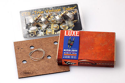 """LP Wiring Kit fits Gibson® Luxe Women Tone Caps/CTS """"TVT"""" Shortshaft Pots"""